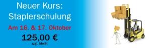 Neuer Kurs Staplerschulung 17. & 18. Oktober