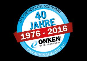 Jubiläumslogo 40 Jahre Uwe Onken GmbH