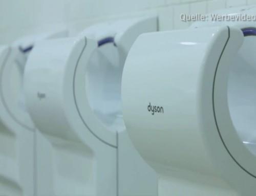 Papiertücher hygienischer als Luftgebläse